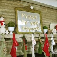 Repurposed Christmas Crafting & FREE Printable Banner