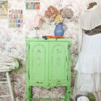 Antique Stereo Turned Sewing Cabinet {Themed Makeover}