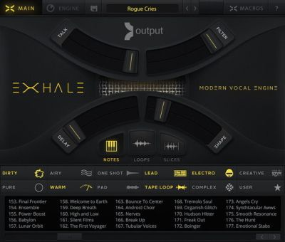 EXHALE Modern Vocal Engine Plugin by Output
