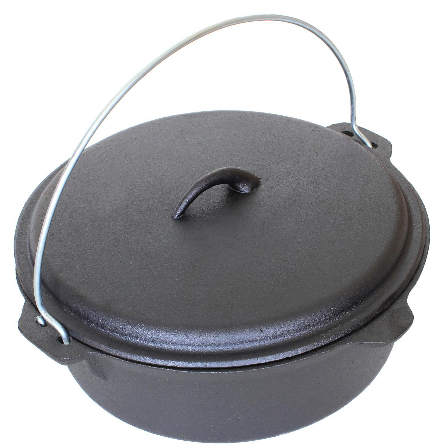 Cajun cookware dutch ovens 6 quart seasoned cast iron dutch oven