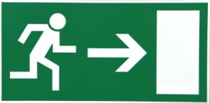 Insurance Customers Exit This Way