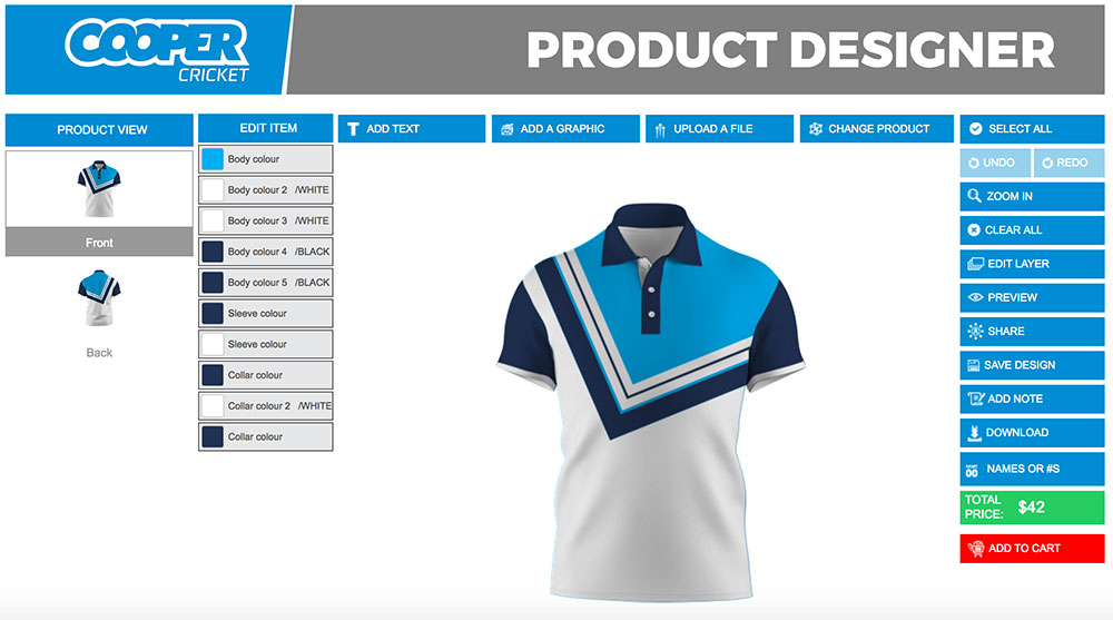 Polo shirt designer product customization software - Product Design