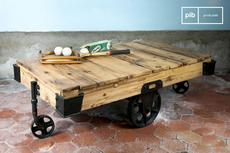 Table Basse En Bois Wood Wagon Table Basse Design Pib