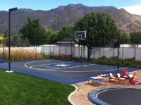 This Pro Dunk Diamond Basketball system sits next the ...