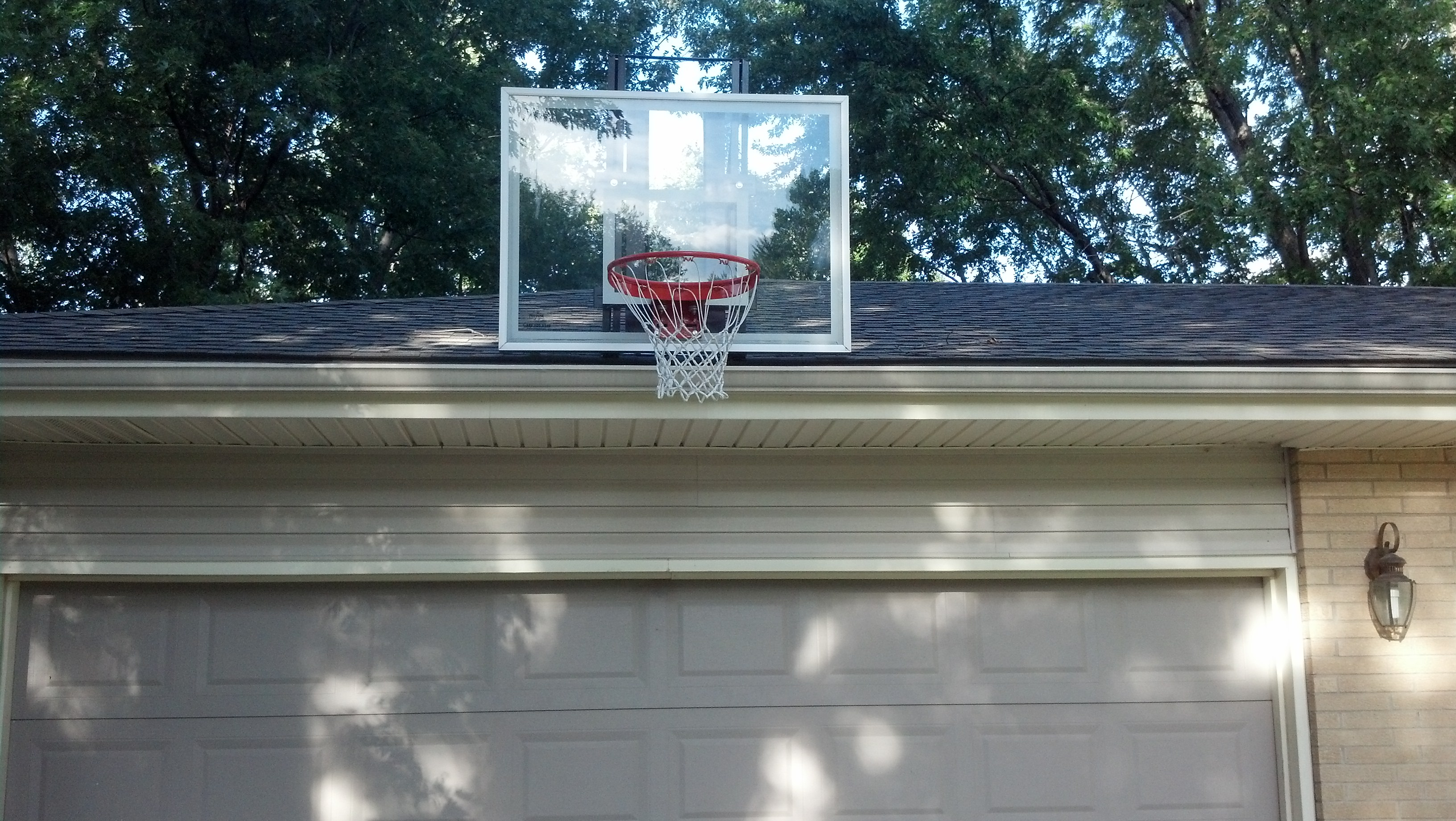 garage design candor garage basketball hoop roof king gold