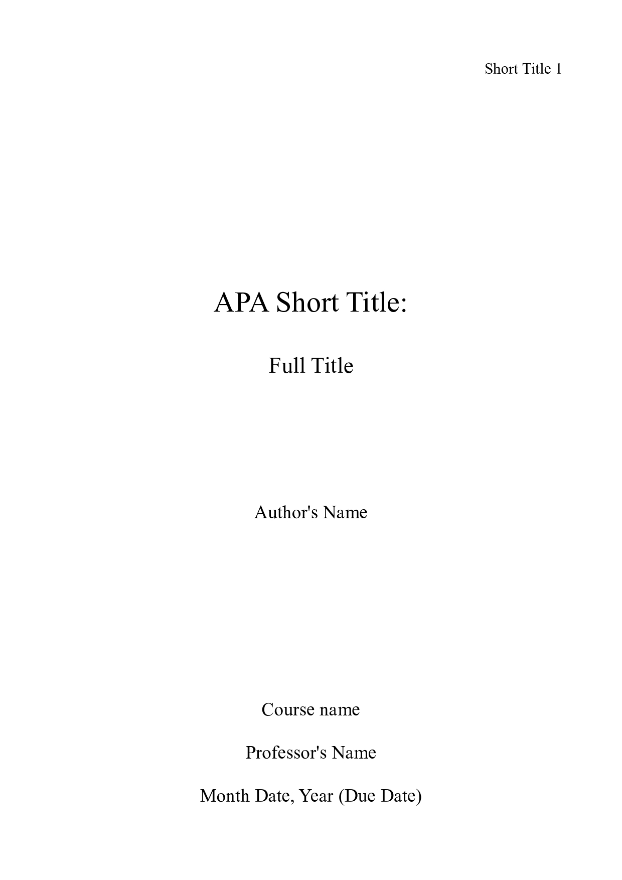 book report title page format latex templates title pages hubpages