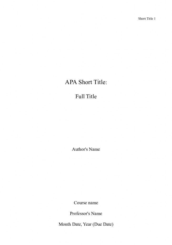 Sample apa research paper cover page - Buying assignments