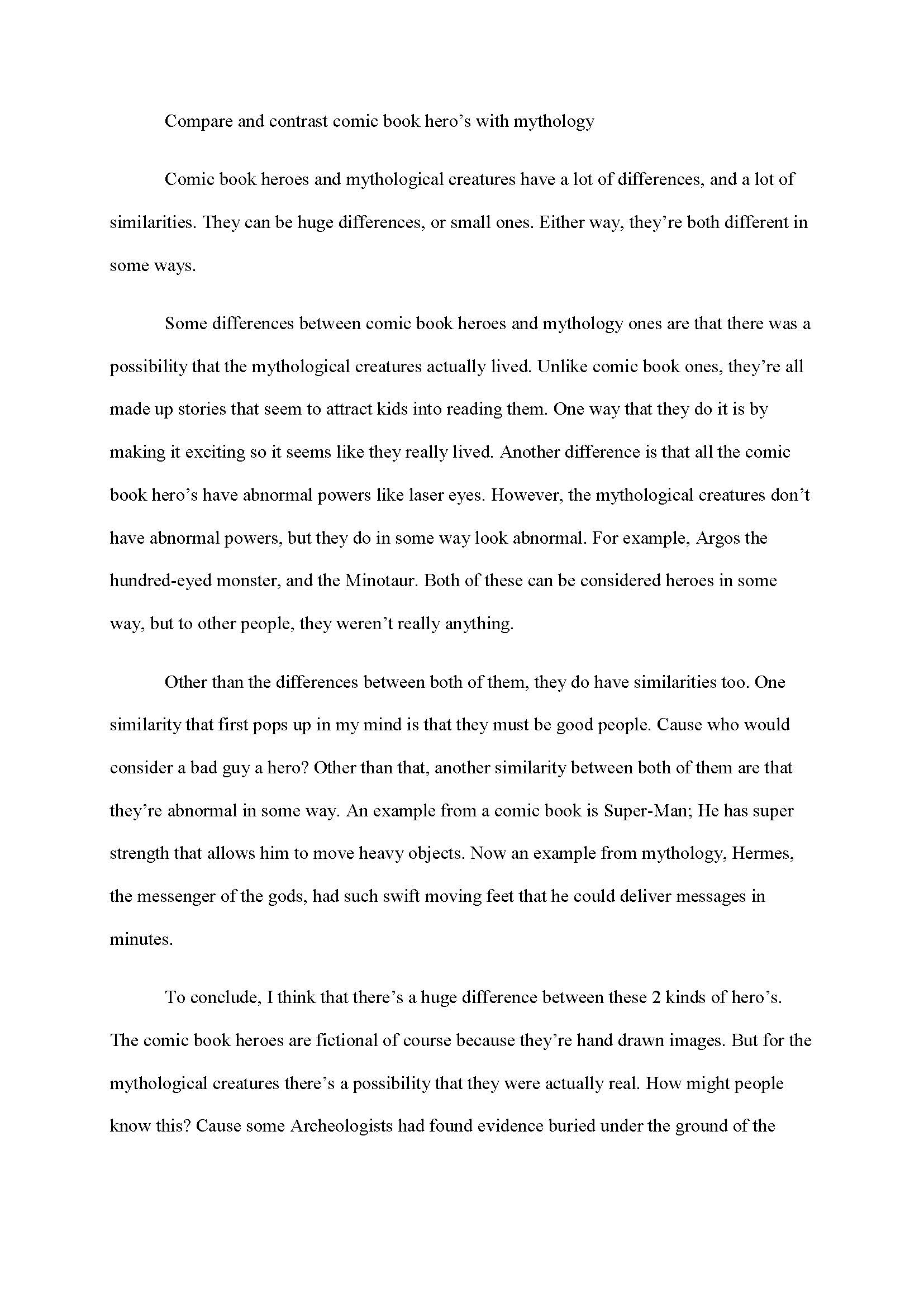 narrative interview essay example