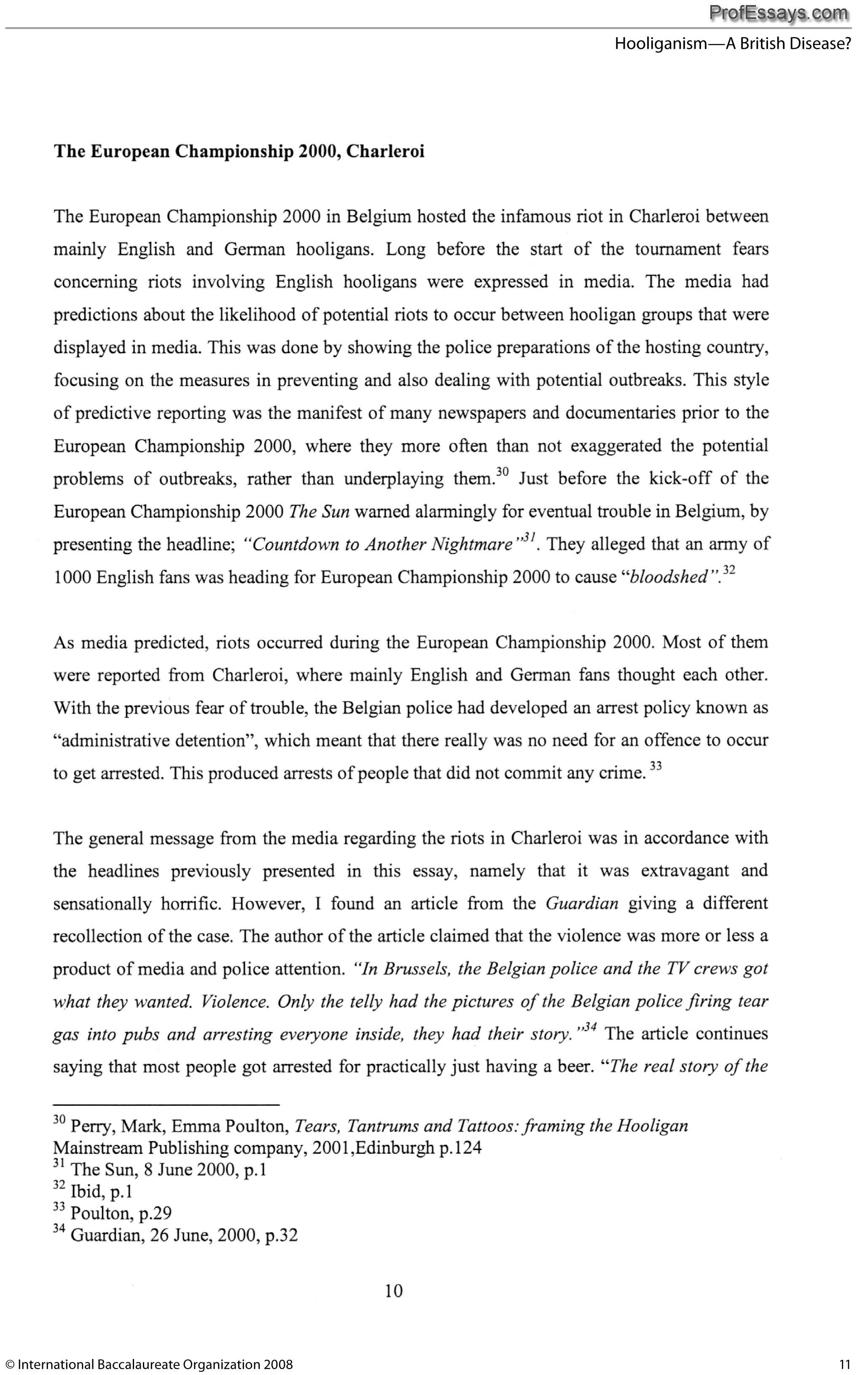 Example Of An English Extended Essay