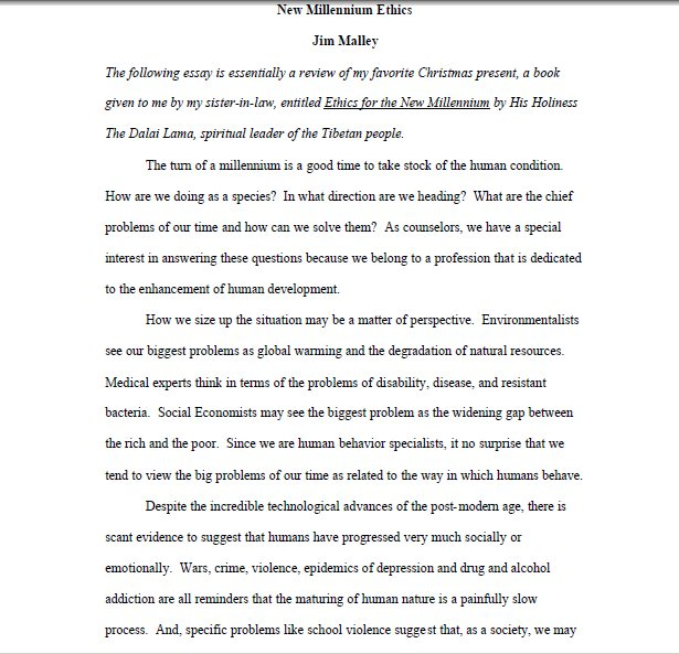 do work cited page essay