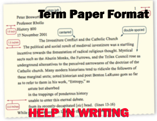 how to write term paper format