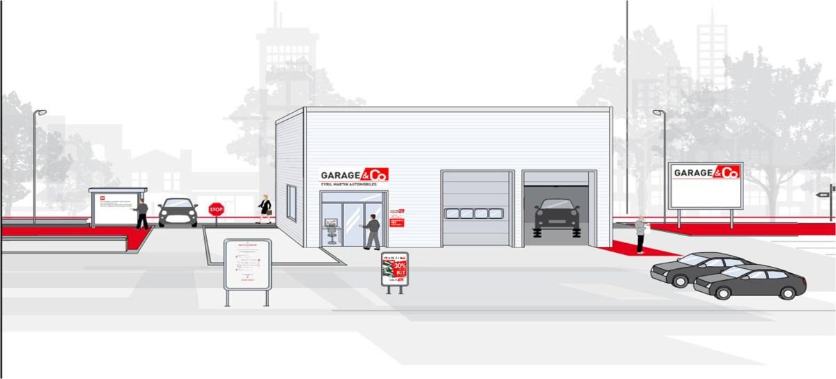 Pr cisium groupe s offre une nouvelle enseigne for Enseigne garage automobile