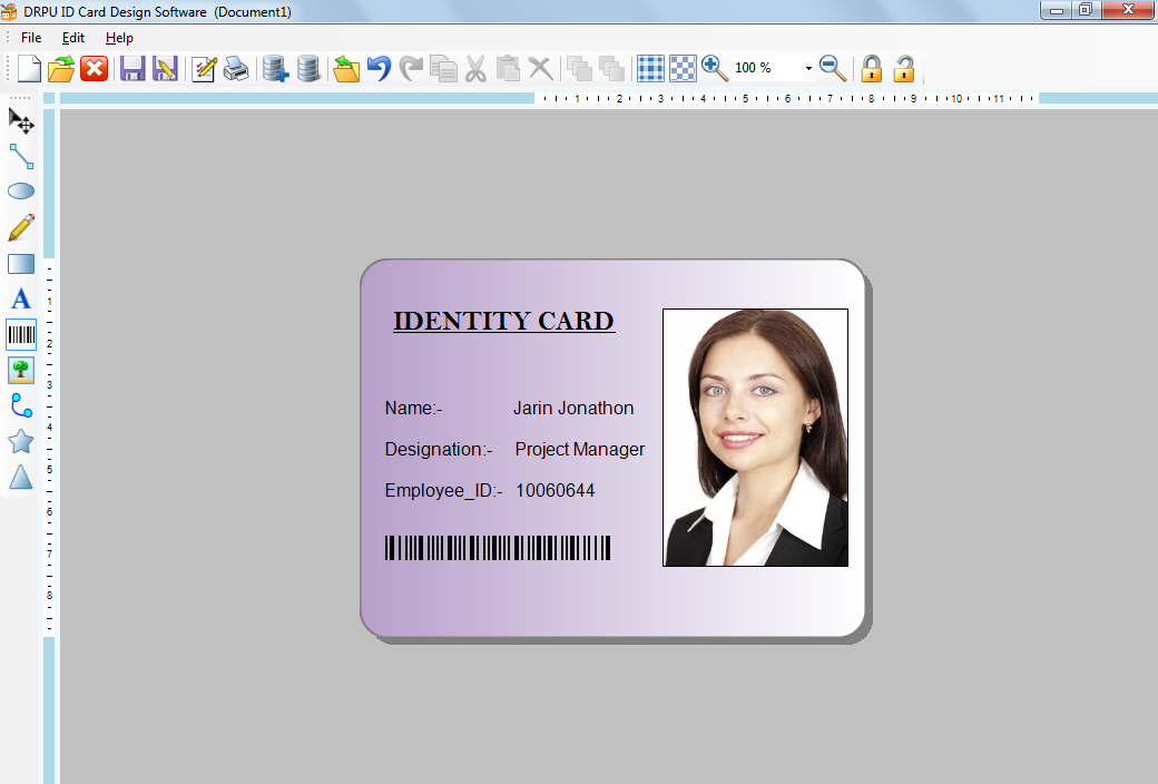 ID software makes employees identity cards student identification - student identification card