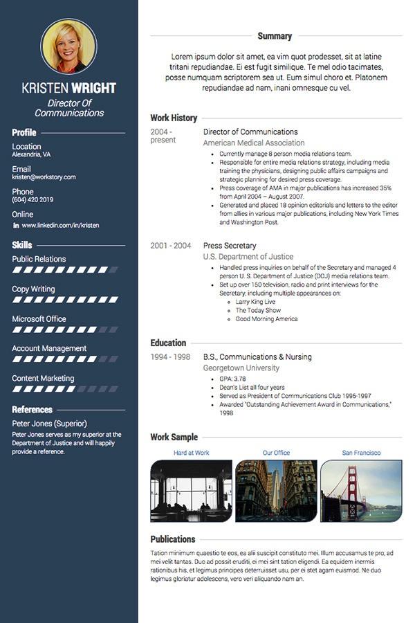 Samples \u2013 PROFESSIONALCV IN - visual resume