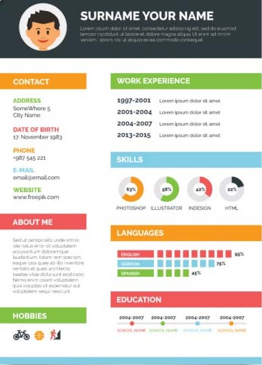 template cv finance design
