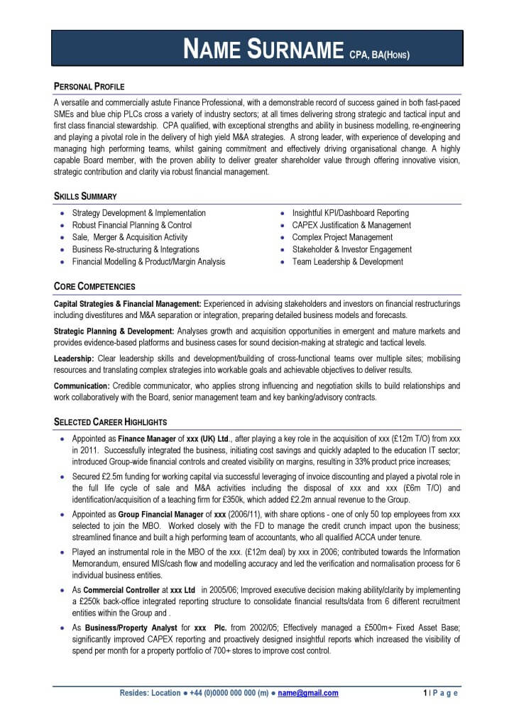 Resume Examples Uk - Examples of Resumes - example resume uk