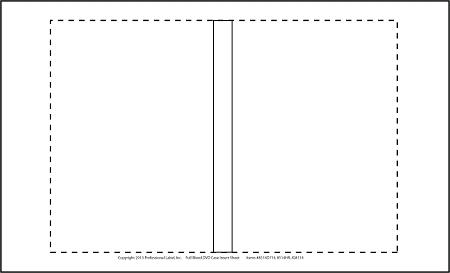 DVD Case Inserts Matte for Inkjet or Laser 50 sheets 8514D714