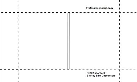 Blu-ray Slim Case Inserts Inkjet Glossy 50 sheets BLU1038 - cd case inserts