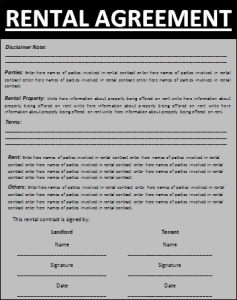 Rental agreement download free template