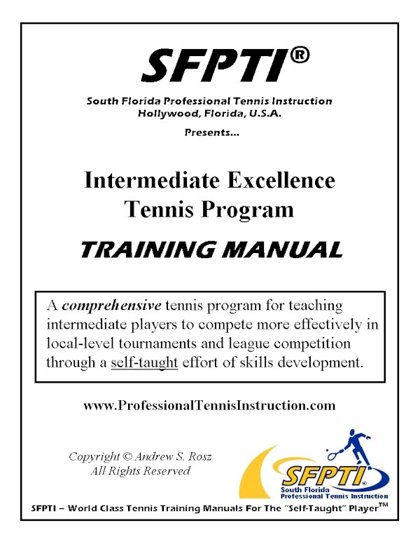 Tennis Books and Tennis Instruction Training Manuals - instructional manual