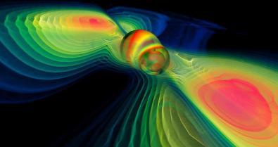 Vad händer när svarta hål kolliderar? Bild: NASA