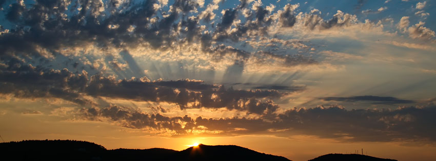 Sunrise Wallpapers With Quotes Amazing Sun Rays At Sunset Facebook Cover