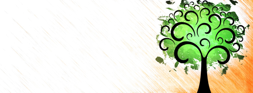 Chinese Quotes Wallpaper Artistic Green Tree Facebook Cover