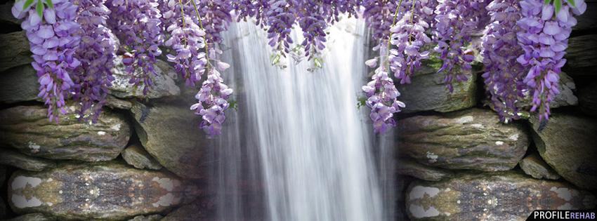 Emo Anime Girl Wallpaper Purple Wisteria Waterfall Facebook Cover