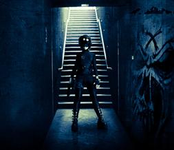 3d Wallpapers For Nokia E63 Cool Industrial Girl Wallpaper Dark Skull Background