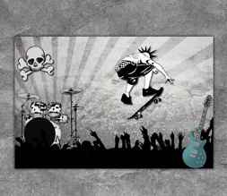 Download Wise Quotes Wallpapers Skull Punk Wallpaper Image Punk Skateboarding Wallpaper