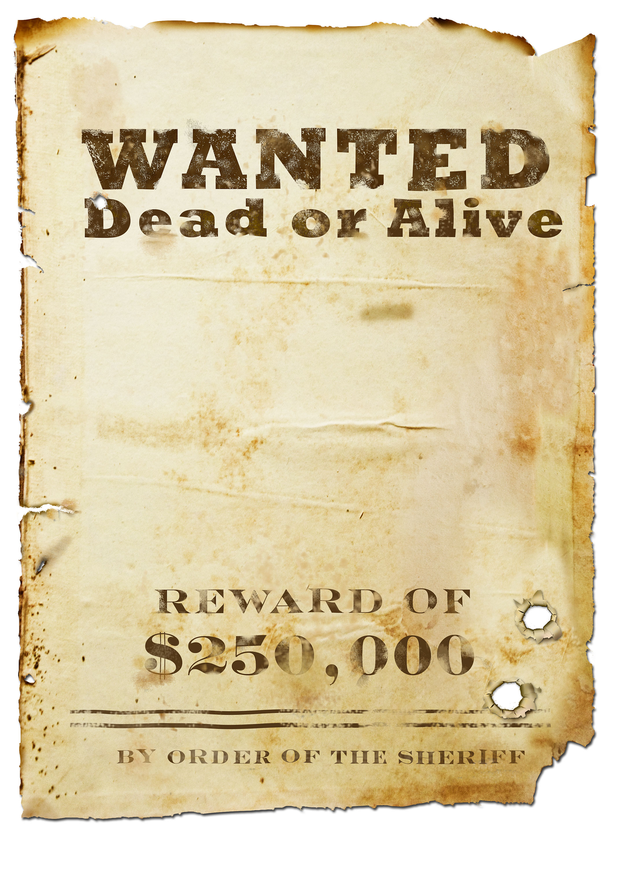 Make Your Own Wanted Poster Template Free | Free Resume Example