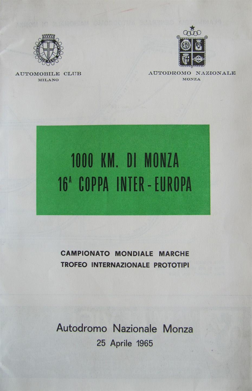 1962 World Sportscar Championship Programmes Auto Electrical Lexus Rx300 Wiring Diagram Cpu Pinout 1965