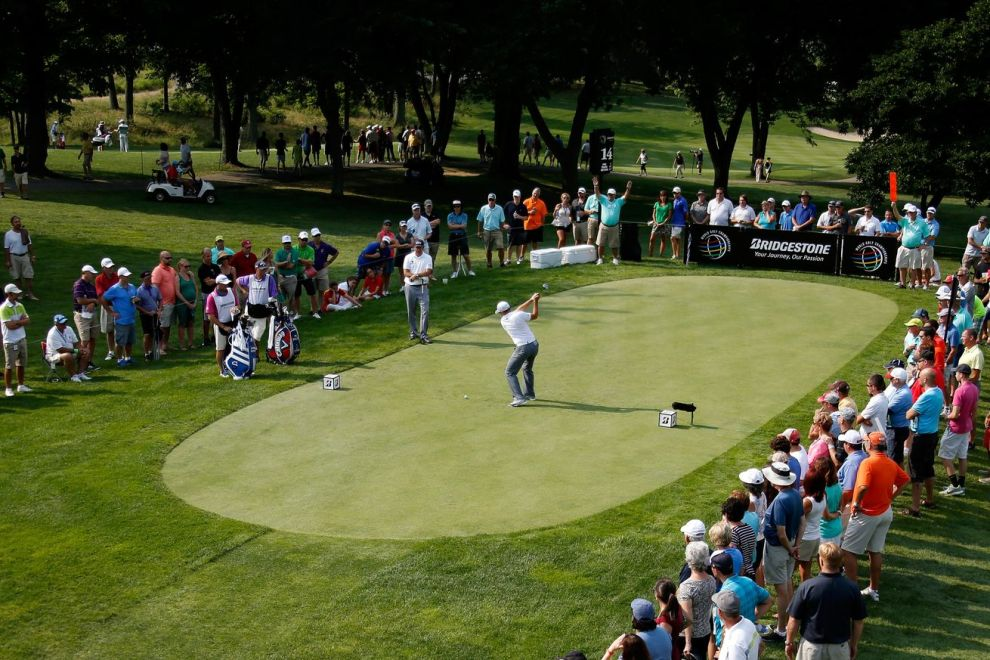The WGC-Bridgestone Invitational is on tap for this week at Firestone CC in Akron, OH. Credit: Getty/Shamus