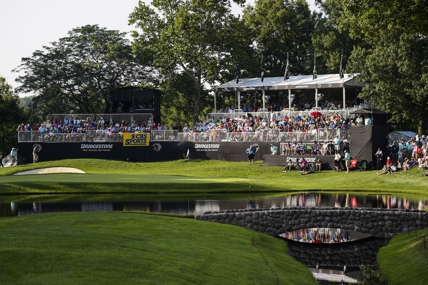 In 2016, the Bridgestone Invitational will be held at Firestone Country Club from June 30 to July 3. It will be broadcast on TGC and CBS. Credit: Getty Images/Chris Condon