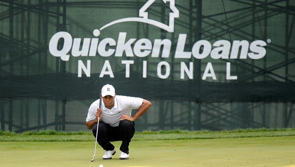 Tiger Woods will not play in this weekend's Quicken Loans National, but he will be in attendance as the event is hosted by the Tiger Woods Foundation. Credit: Getty Images