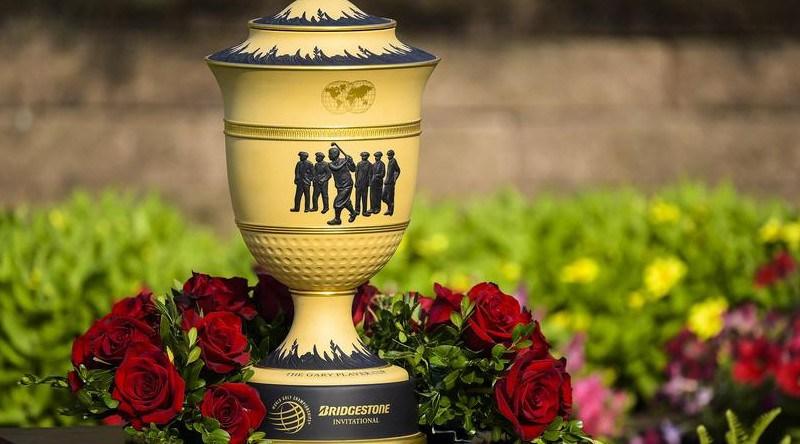 The  WGC-Bridgestone Invitational trophy is named after Gary Player. Credit: WGC-Bridgestone