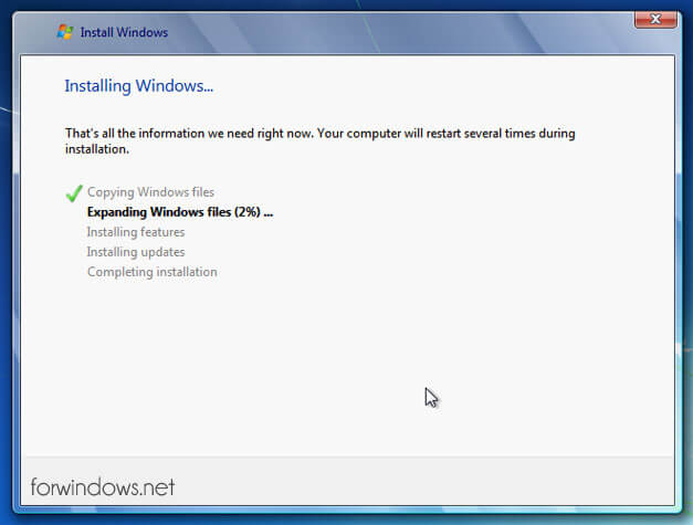 Manual de instalare Windows 7- Expanding Files