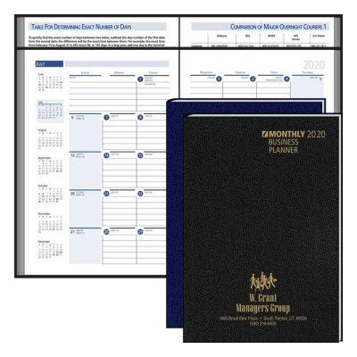 Custom Printed Business Planning Manual Monthly Planner 2019