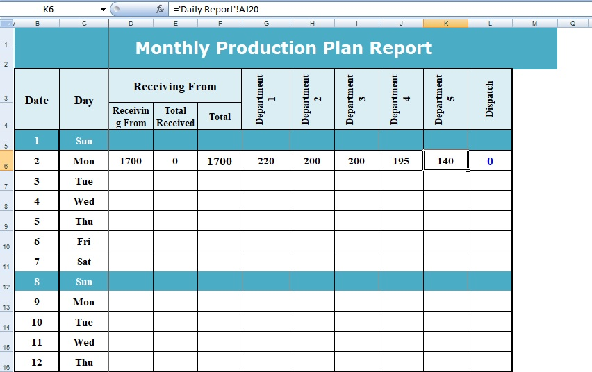 excel template project planning