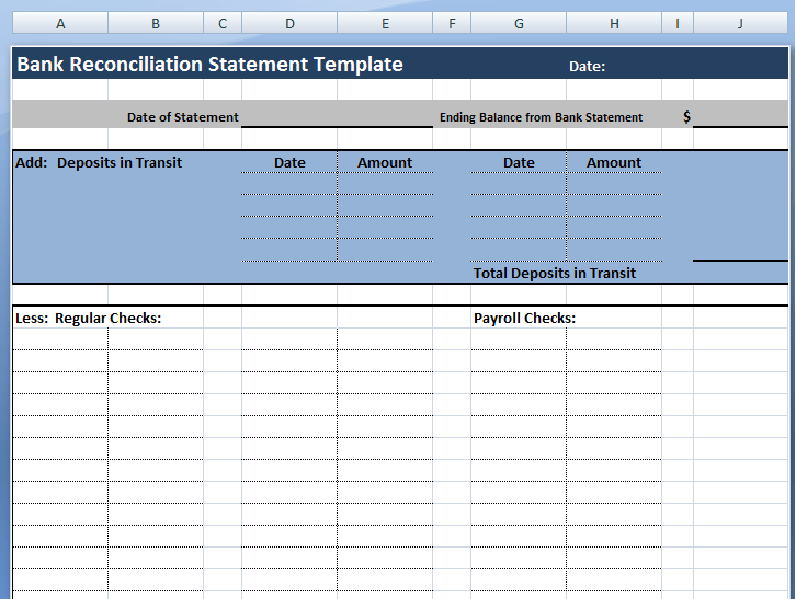 Doc689675 Bank Account Reconciliation Template Free Excel – Template for Bank Reconciliation