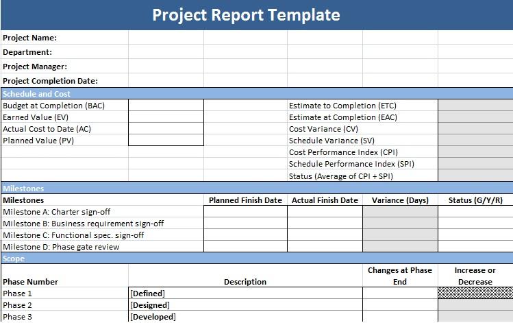 Plan Template Project Management – Project Management Action Plan Template