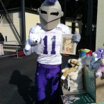 The Holy Cross University football team gets in the spirit to raise funds for Project Night Night.
