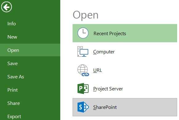 Open from SharePoint Task List \u2013 Project Plan 365