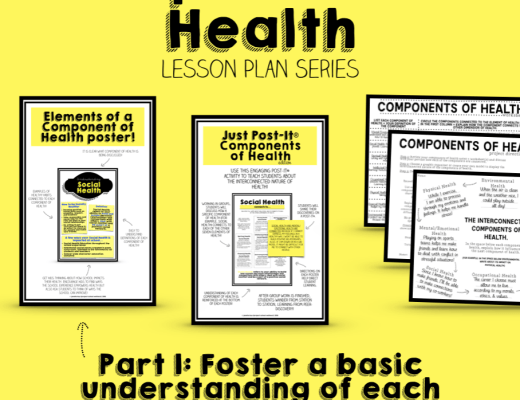 Components of Health Lesson Plan Series, Health Unit, Health Lesson Plans, Health Resources