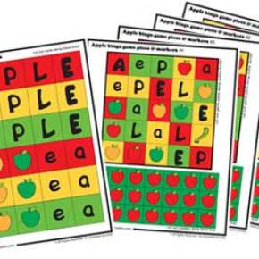 Make your own apple bingo game