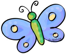 blue butterfly clipart by JGoode