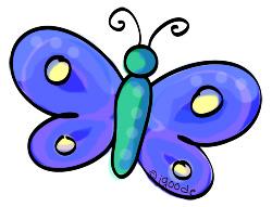 dark blue butterfly clipart by JGoode