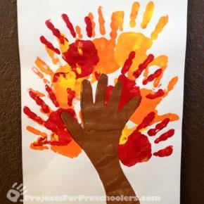 Handprint tree for Autumn