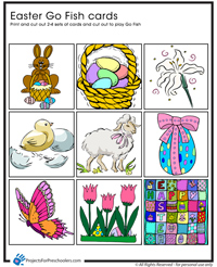 Play an easter go fish game projects for preschoolers for How to play go fish