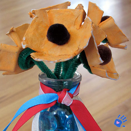 Poppy bouquet craft for Memorial Day